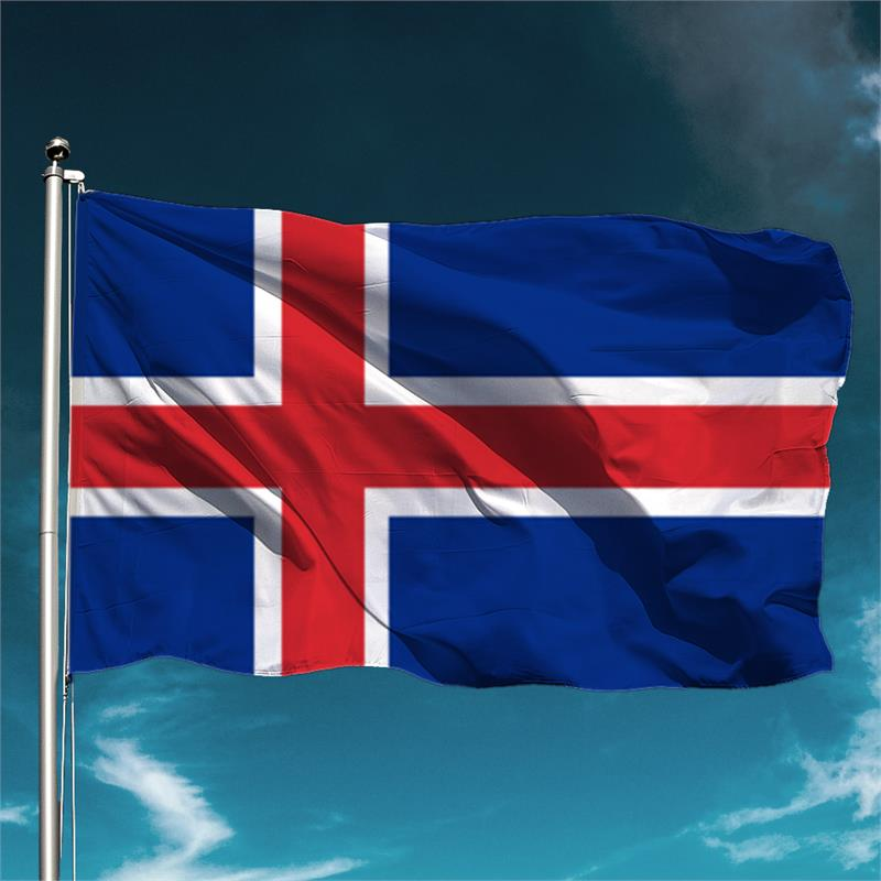 bingham schiedam bv : vlag ijsland 100 x 150 cm